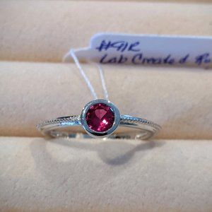 Lab Created Ruby Ring
